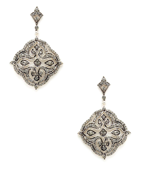 d9fac0e08 Black Crystal Geometric Drop Earrings by Azaara Vintage at Gilt ...