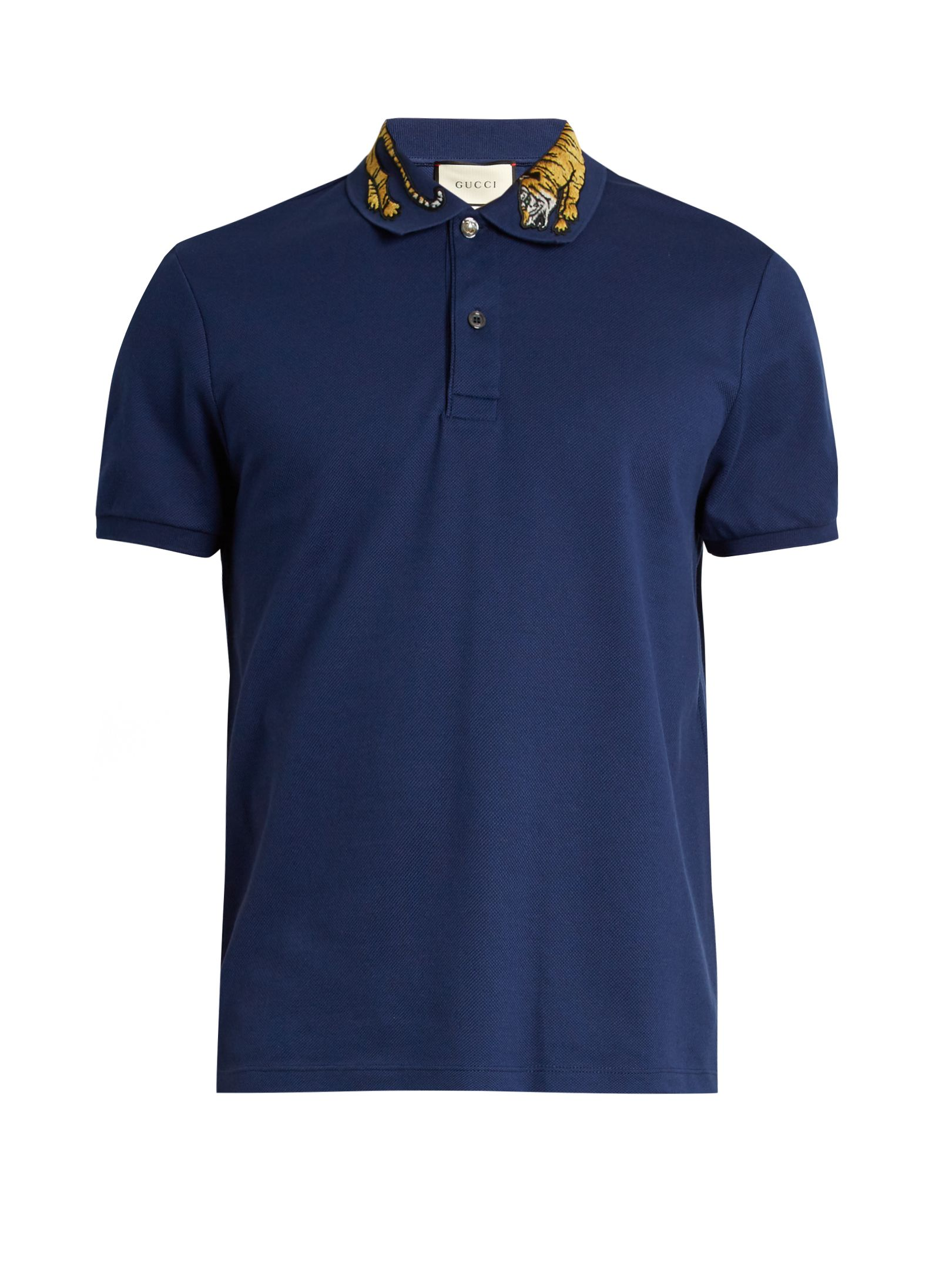 95db2c2788a5 Tiger-appliqué cotton-blend piqué polo shirt | Gucci | MATCHESFASHION.COM