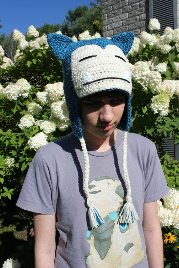 Pokemon Snorlax inspired hat | Gorros, Gorros crochet y Gorro tejido