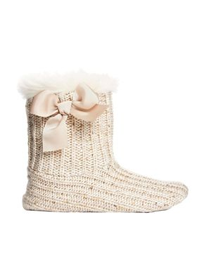 8fb9459fa694 New Look Knit Sequin Slipper Boots | Fancy Footwear | Pinterest ...