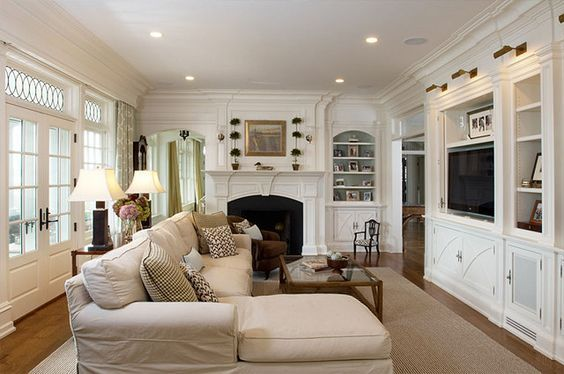 Long Narrow Living Room With Fireplace On End Wall Google Search