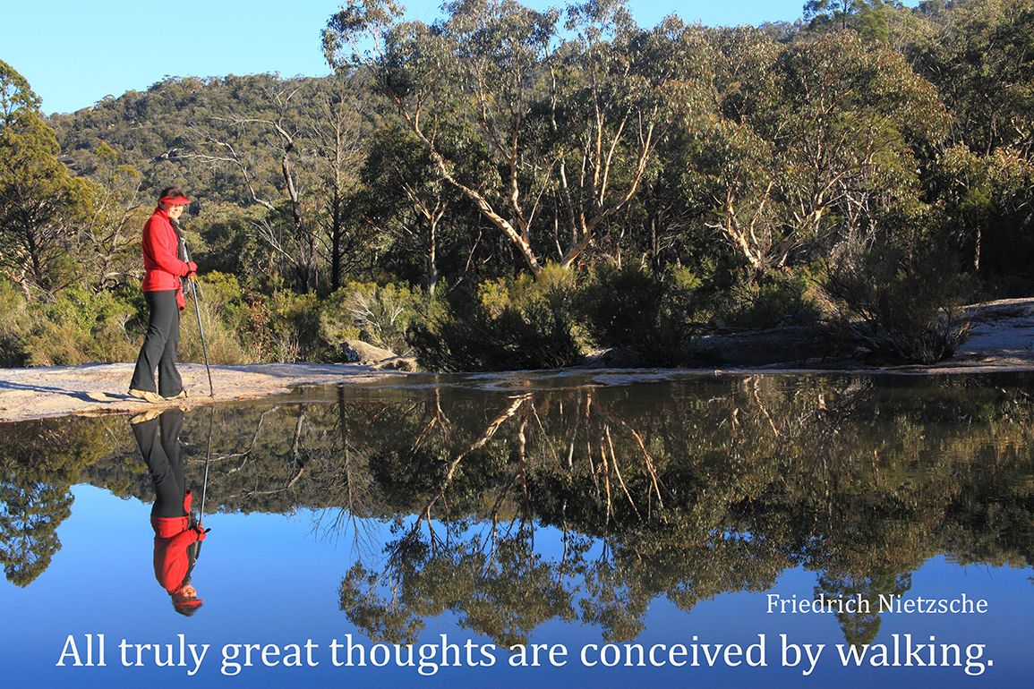 All truly great thoughts are conceived by walking. Friedrich Nietzsche #greatwalker