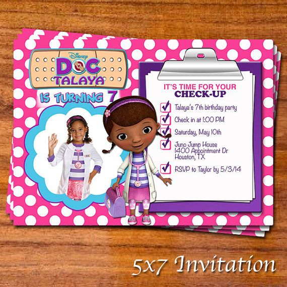 Doc Mcstuffins Party Invitation By