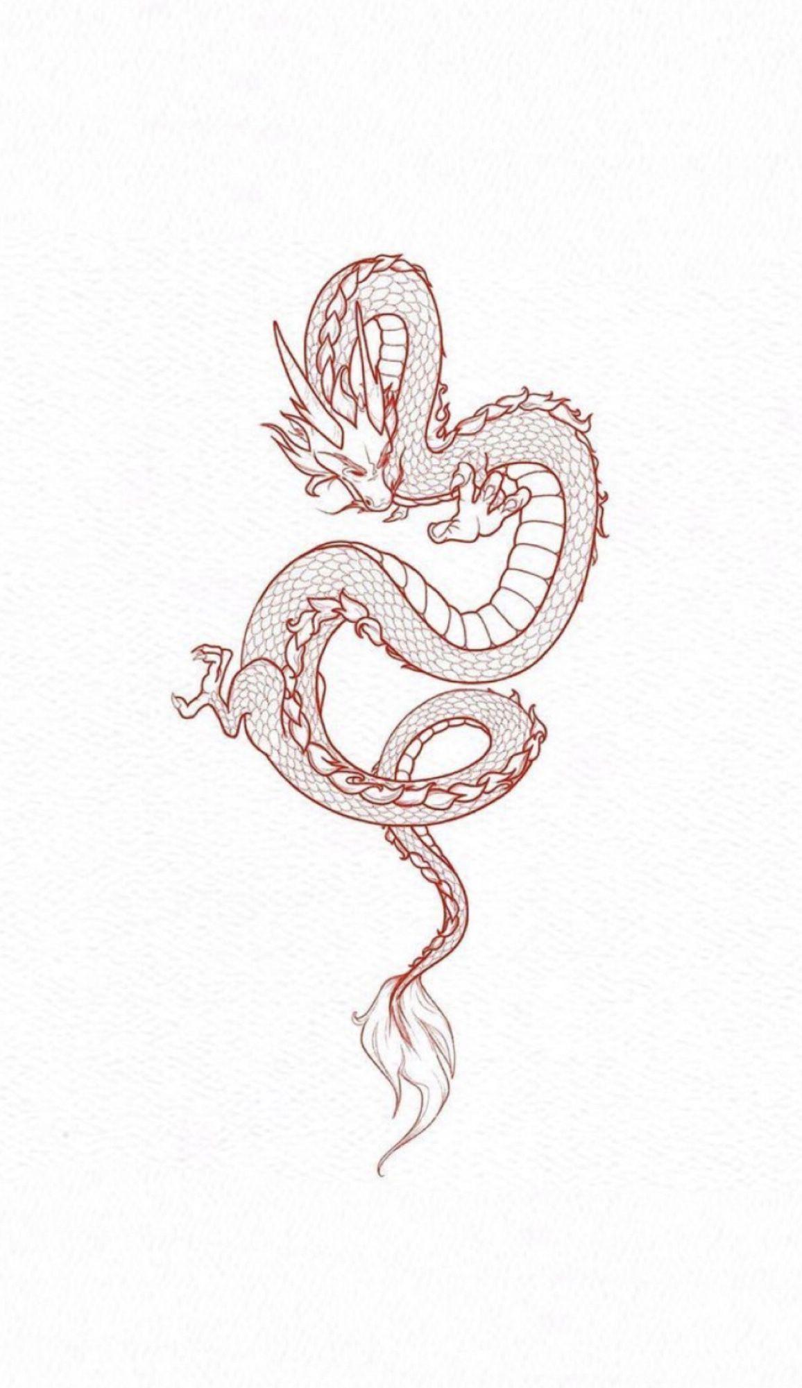 Dragon V 2020 G Krasnye Tatuirovki Tatuirovki Tatuirovki Kitajskogo Drakona