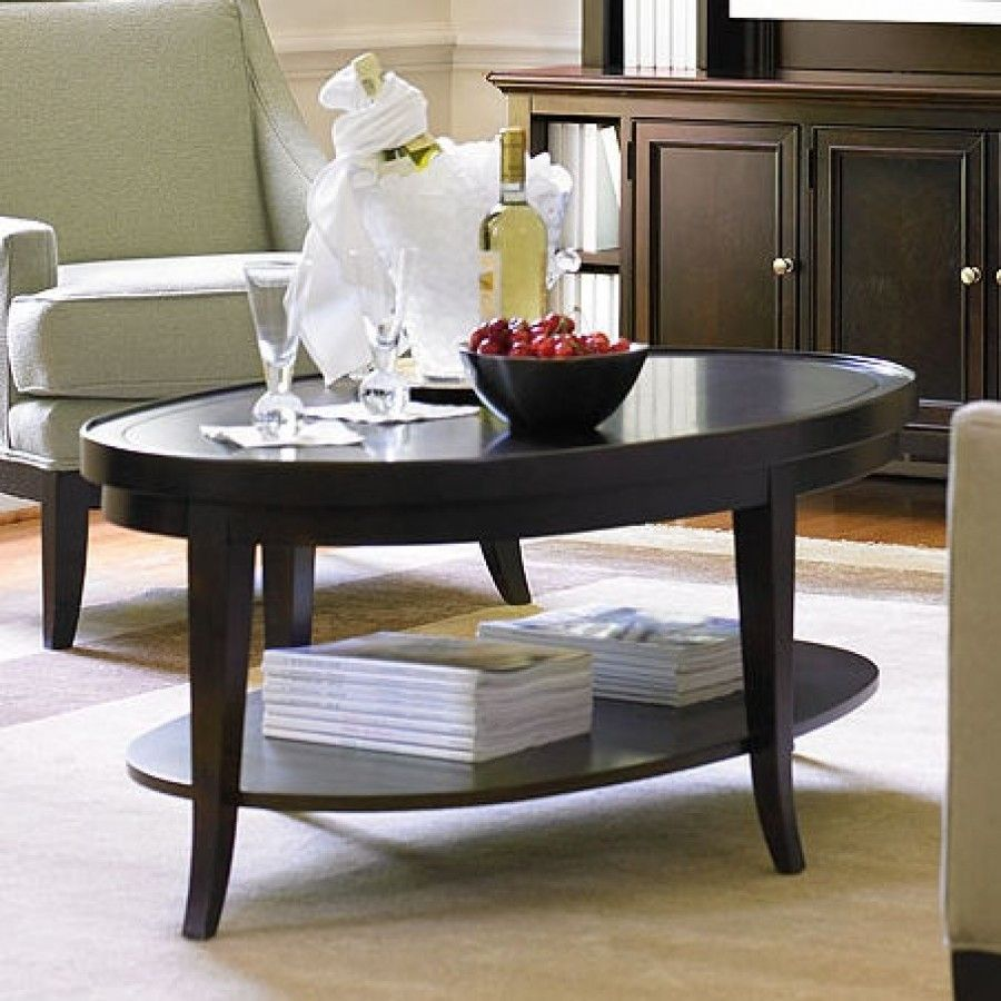 Stanley Hudson Street Dark Espresso Oval Cocktail Table 712 1503 Coffee Table Accent Table Decor Table [ 900 x 900 Pixel ]
