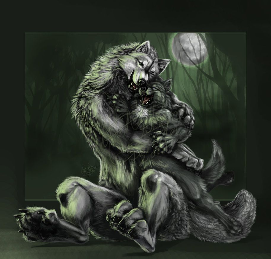 Mother S Love By Latent Ookami Furry Art Werewolf Creature Art