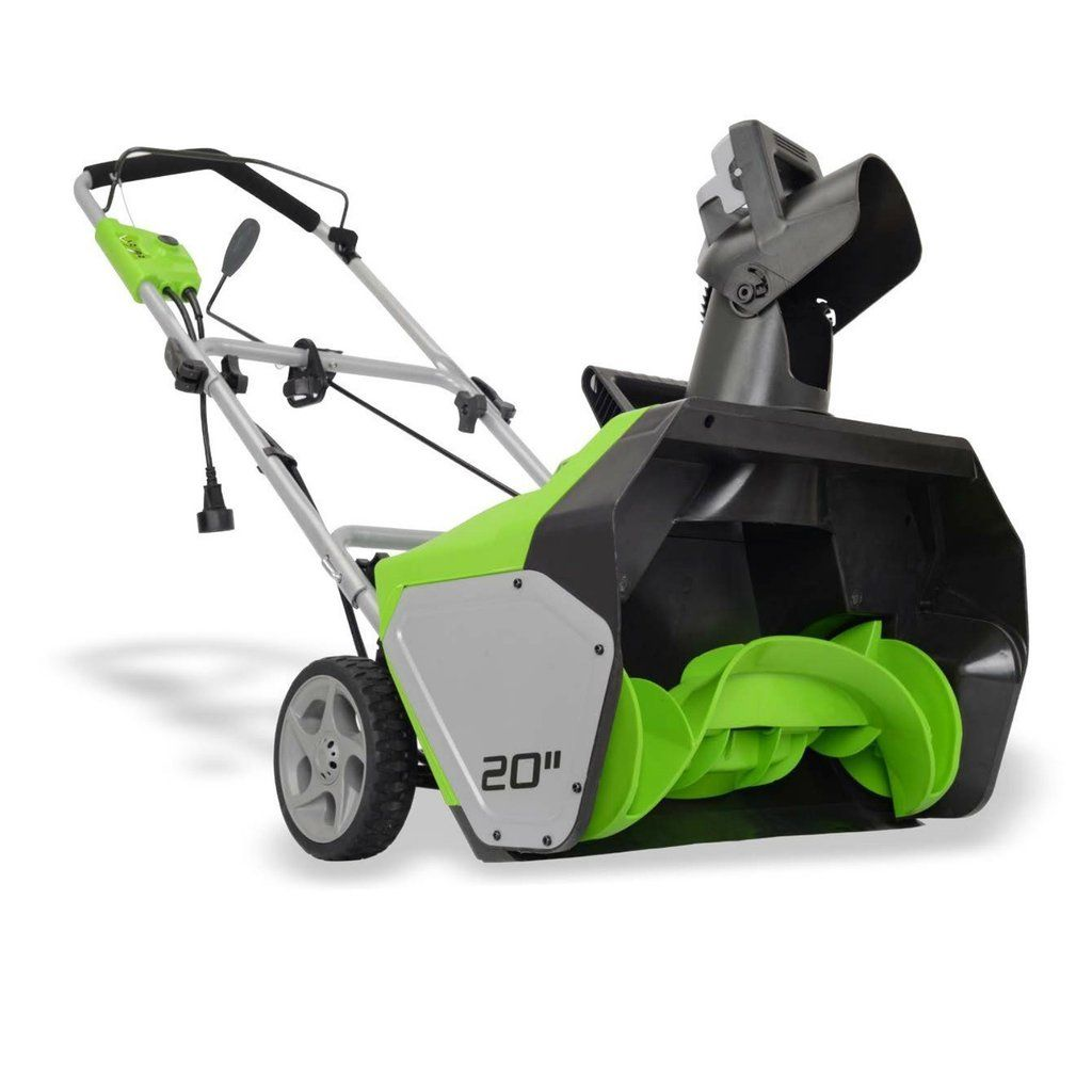 Electric snow blower thrower
