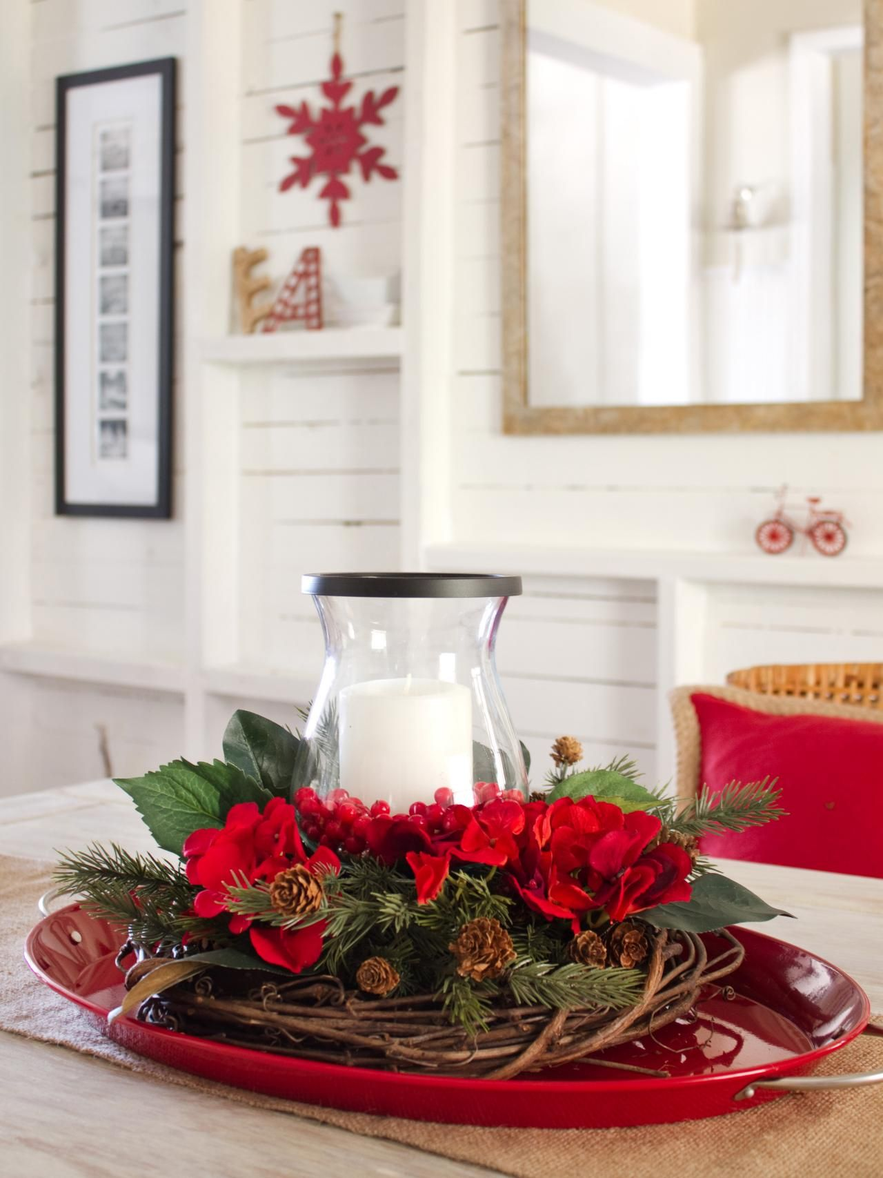 How To Make A Layered Holiday Centerpiece Holiday Centerpieces Holiday Centerpieces Diy Christmas Table Decorations