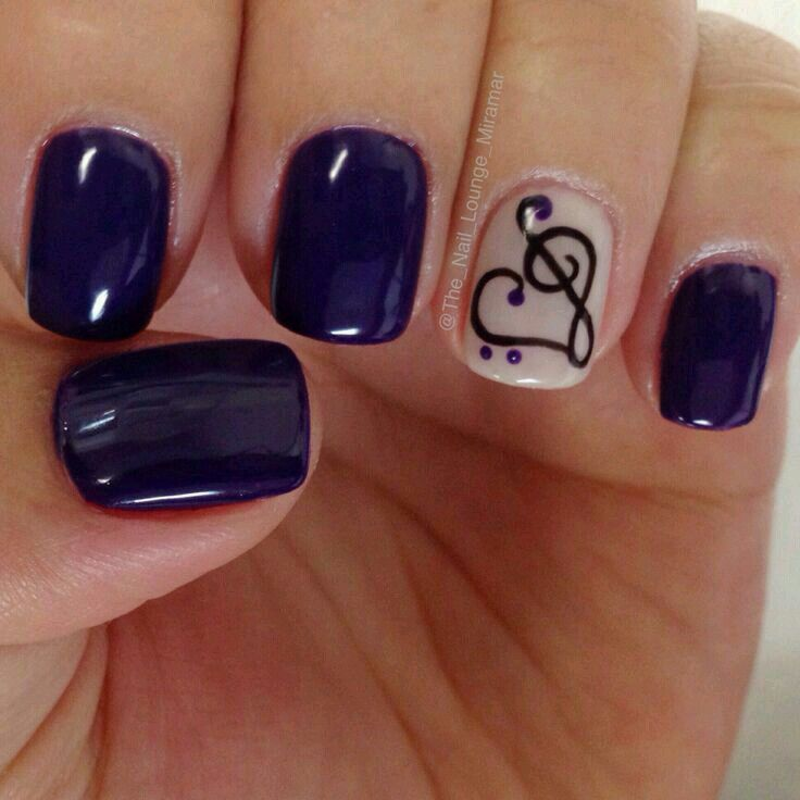Really Cute Music Nail Art. Could Probably Use A Sharpie