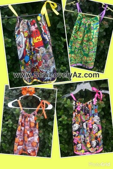 Comic Pillowcase Dresses for Toddlers By www.Sewlovelyaz.com