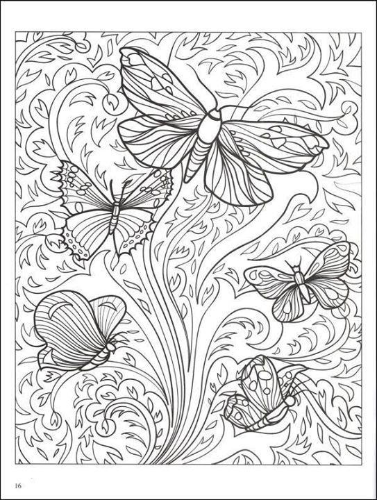 Borboletas Frontal Lobe Dementia Adult Coloring Pages