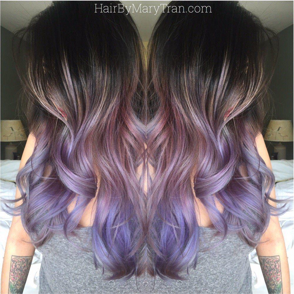 Mary Tran Santa Monica Ca United States Purple Ombre And Long