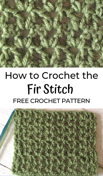 Fir Stitch—FREE Crochet Pattern #crochetstitches