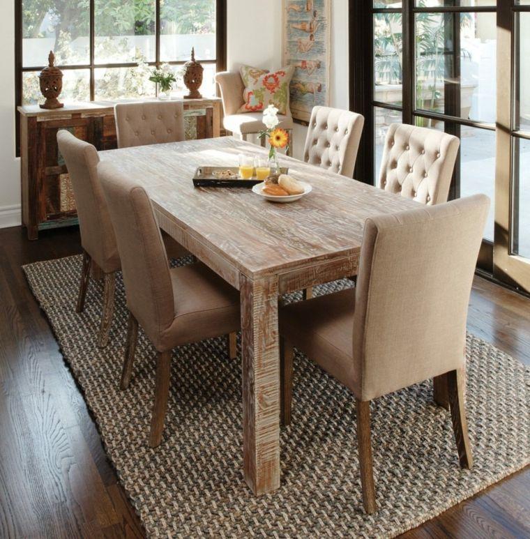 mesa de comedor rústica   Interiores para comedor   Pinterest ...