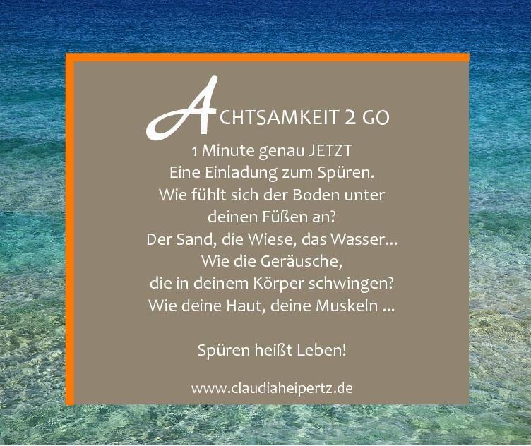 Achtsamkeit 2 Go - 1 Minute nur für dich - Spüren. #achtsamkeit #wahrnehmen