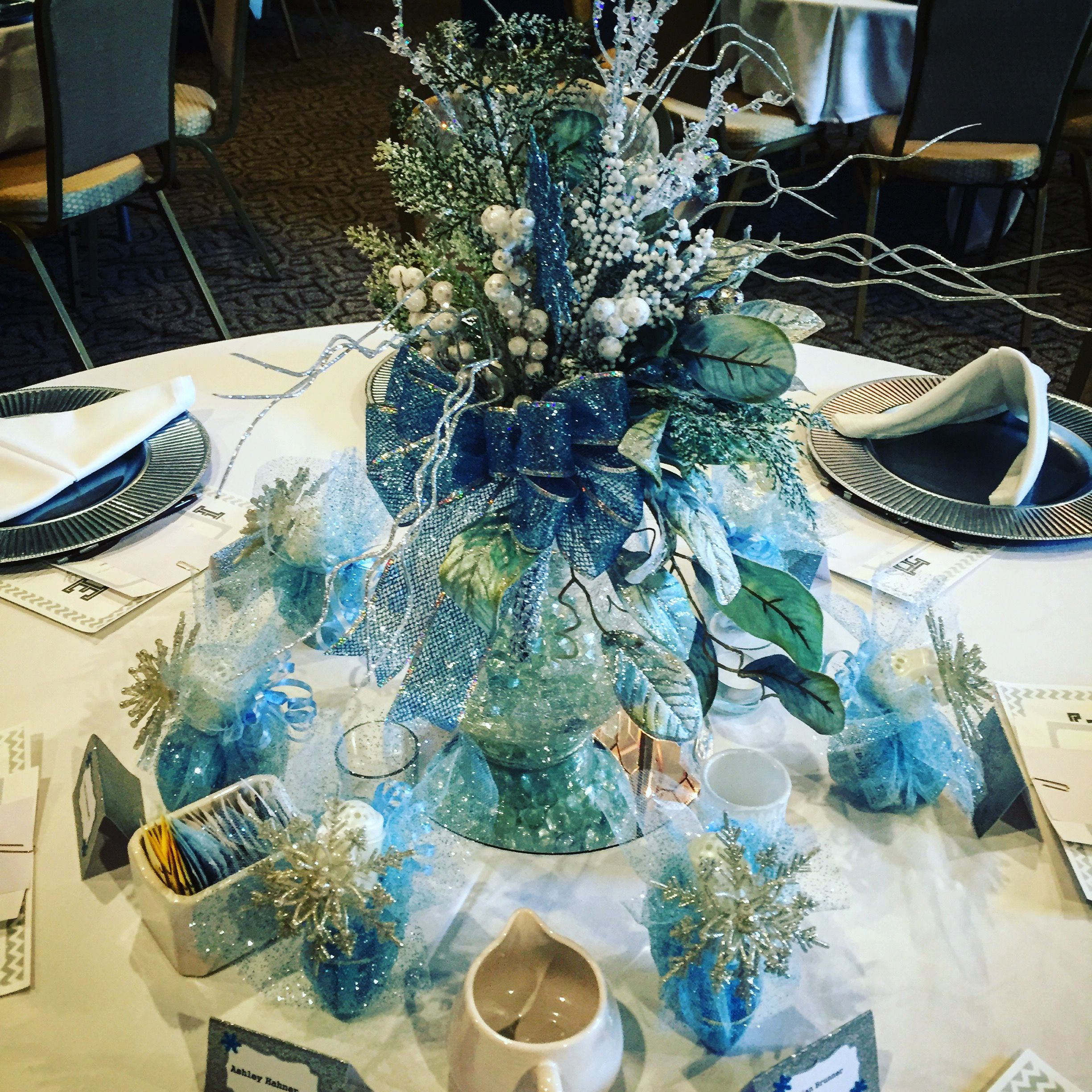 Baby its Cold Outside baby shower theme centerpiece at Olivias
