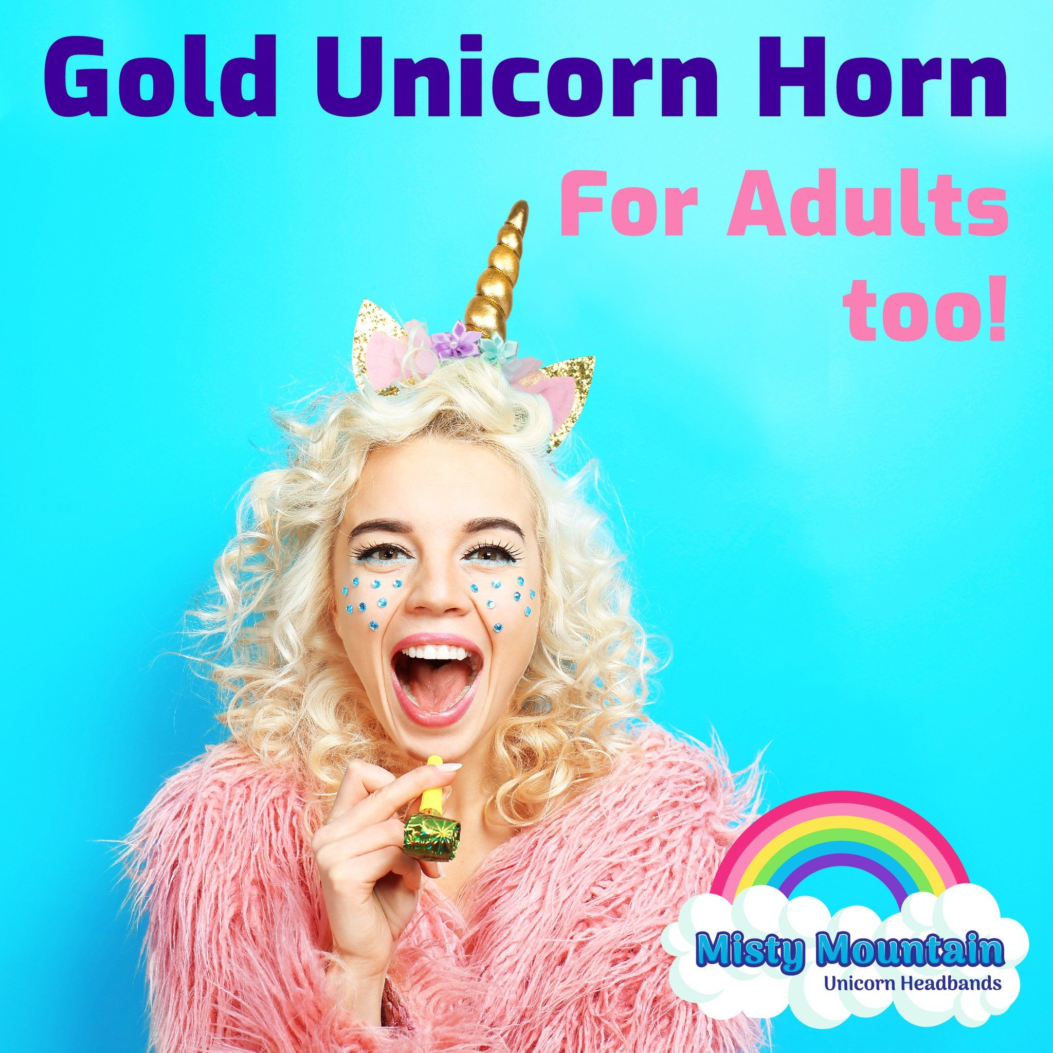 Unicorn Headband Party Supplies for Party Favors or Unicorn Costume (6 pack)