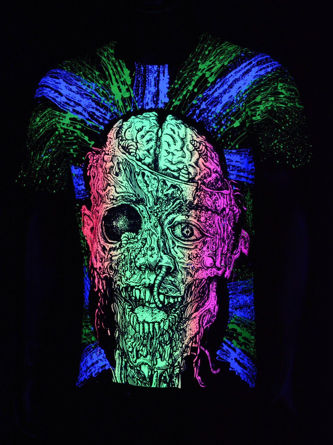Black light t shirt ideas - Schwarzlicht T Shirt Neon Gurt Zombie Black Blacklight Schwarzlicht Neon