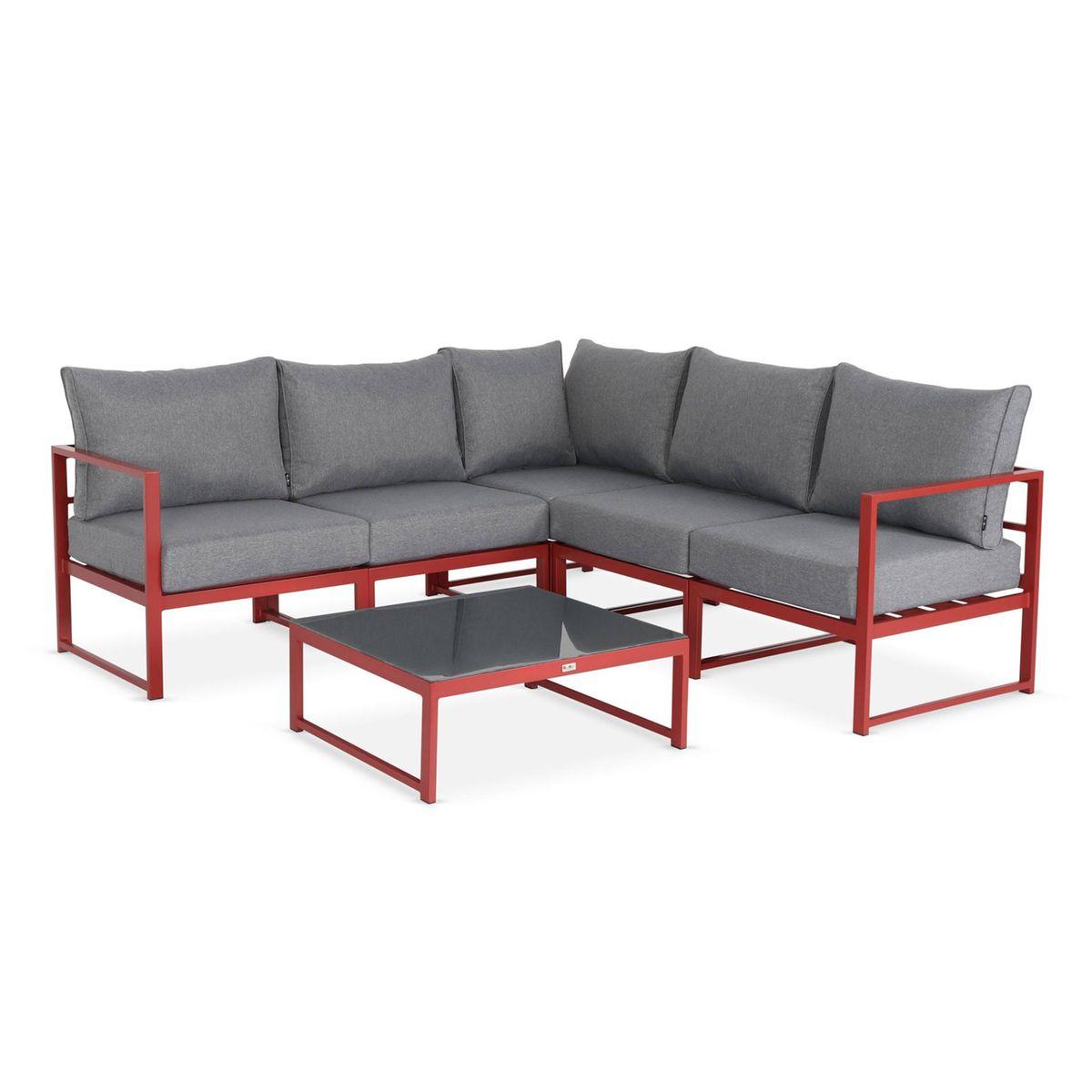 Salon De Jardin 5 Places Stratum En Aluminium Design Et Modulable