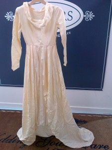 60 Year Old Gown That Came In For Preservation Before Pressing Wedding Gown Cleaning Wedding Gown Preservation Gowns