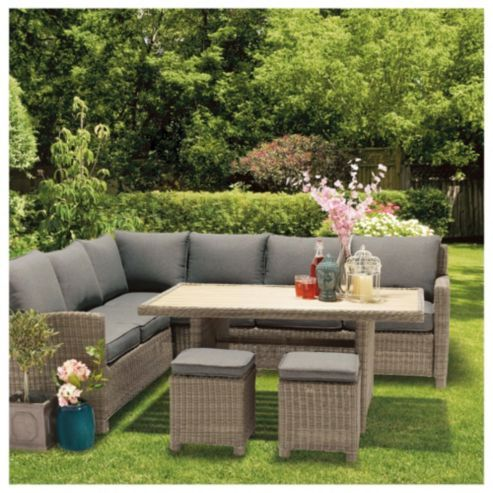Rattan Garden Furniture Tesco buy dobbies alegrano modular garden dining/lounge set from our