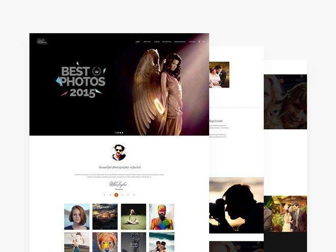 Photographer PSD Web Template Free Website Template Pinterest
