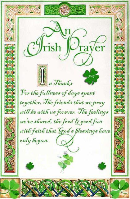 irish wedding prayers and blessings framed | call sayings irish ...