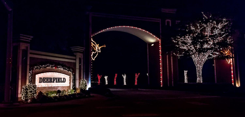 neighborhood entrance christmas decorations Google