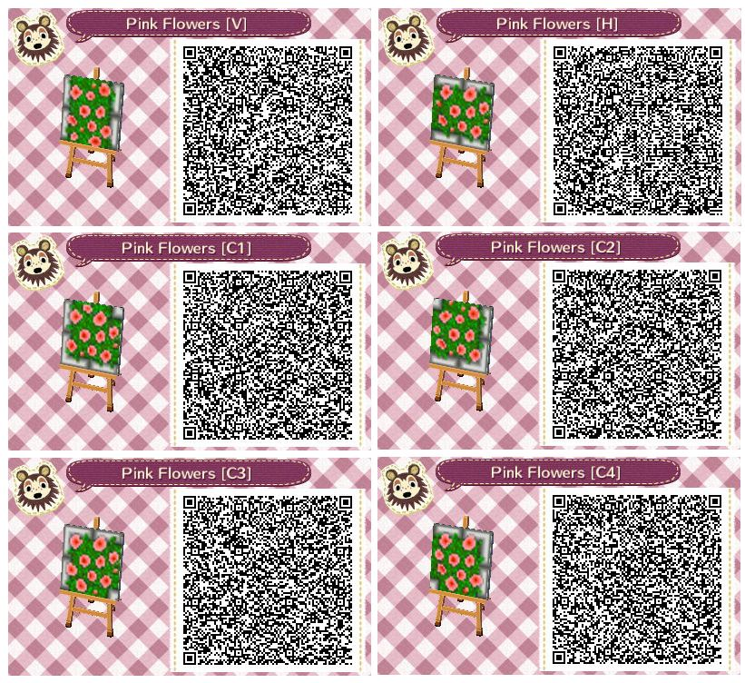 Pink Flower Beds By Quirkberry Animal Crossing New Leaf