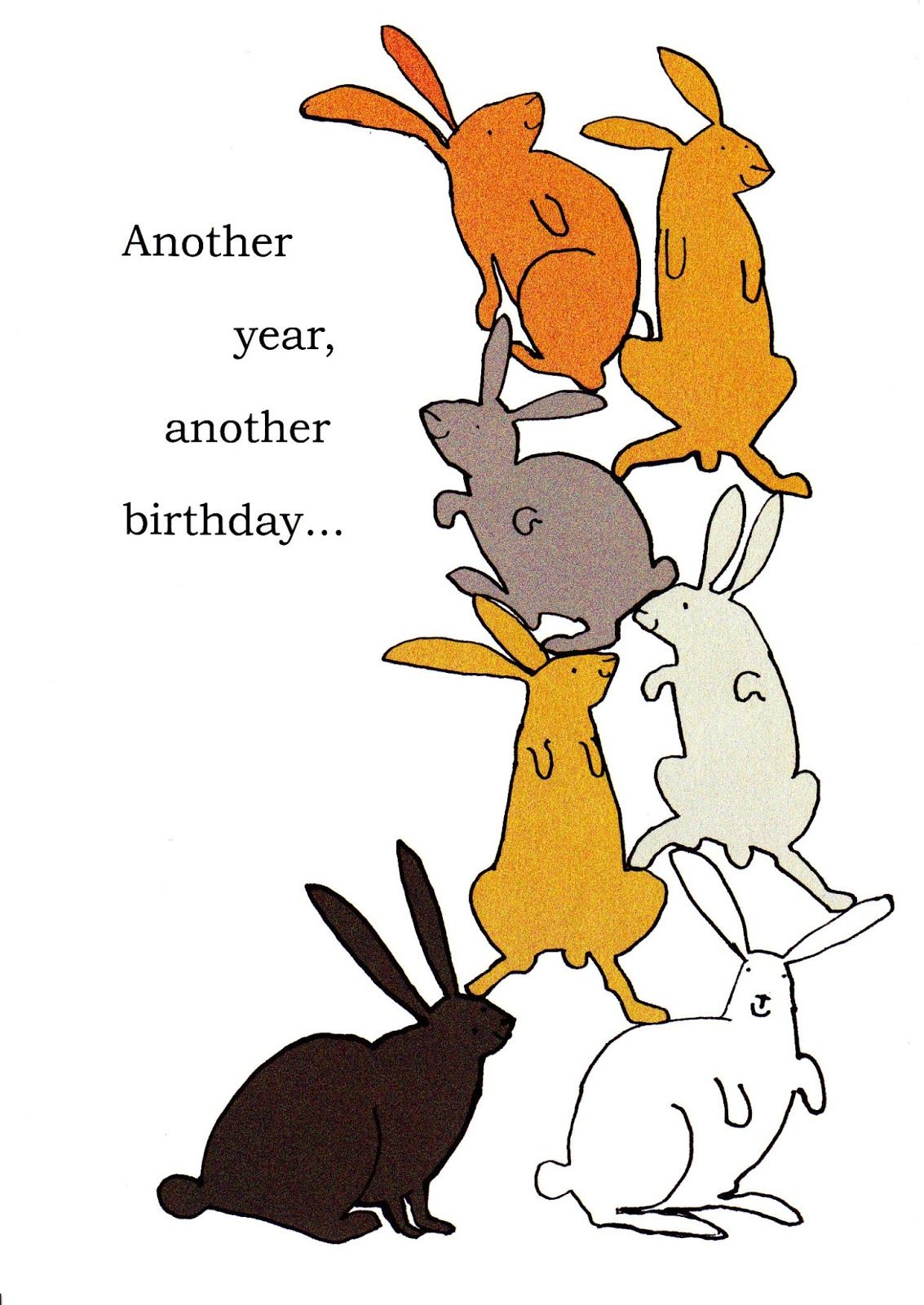 Bunny Birthday Cards Bunnies Greeting Challenges Bday