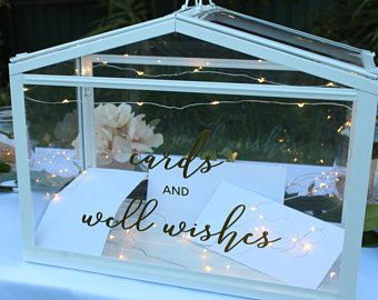 Wishing Well Wishing Well Wedding Card Box Wedding Wedding Cards