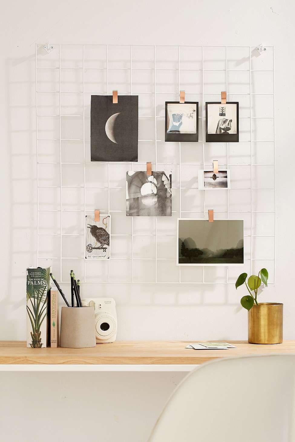 wandgitter im drahtdesign   schreibtische, schöner wohnen und wohnen, Schlafzimmer entwurf