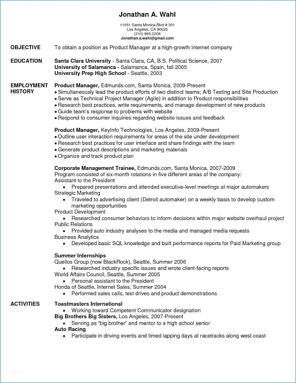 Product Manager Resume Sample Product Manager Resume Sample Pdf Product Manager Resume Sample India Product Manager Resume Sample Resume Marketing Software