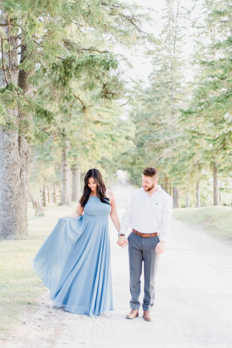 Lulus wedding guest dresses  Georgetown Engagement Session ft the Showstopper Blue Maxi Dress