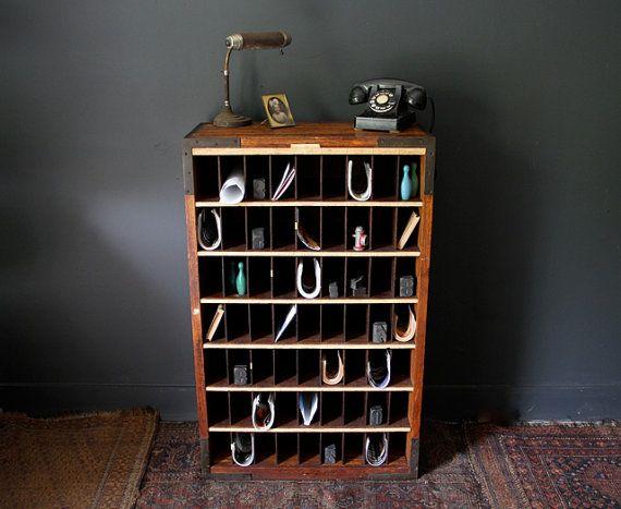 Beau Vintage Oak Post Office Mail Cabinet By CanalSideStudio On Etsy. , Via Etsy.