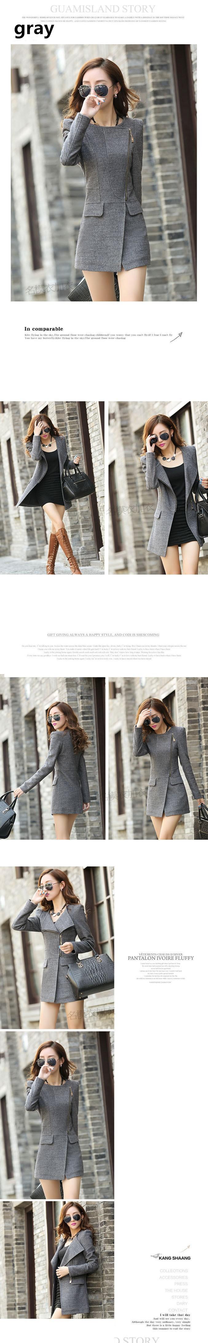 Casacos de seção longa irregular jaqueta de lã de casimira elegante para inverno feminino coleção 2014 promocional chaquetas mujer tamanho M GGG em Jaquetas Básicas de Roupas e Acessórios Femininos no AliExpress.com | Alibaba Group