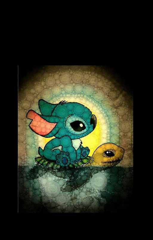 stitch and turtle iPhone Case & Cover