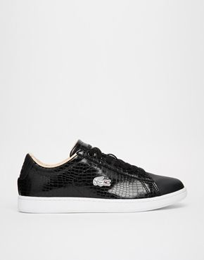 I love a patent pair of trainers - such a smooth move! Love how the texture picks up on the Lacoste logo: double the croc!