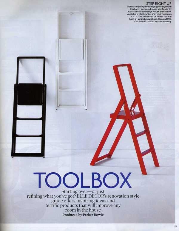 Step Glossy Ladder For Design House Stockholm By Karl Malmvall Via Behance Drabina Nordic Furniture House Design Step Ladders