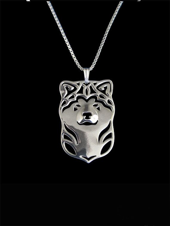 2016 new Japanese Akita Inu silver pendant and necklace for pet lovers dog animal charms can drop shipping A180