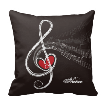 I HEART MUSIC DESIGN with a red heart in a white Treble Clef on black backgorund and there's some music floating in the air! Personalize it with recipient's name as a gift for musicians or those who love music! ( you can clear the text if desired ) I HEART MUSIC Treble Clef Black Personalized by riverme #musical-notes #black #personalized #fun #treble-clef #red-heart #musician #musicians #music-lovers #music-lover #cute #customized #customizable #custom #personalize #cool #riverme