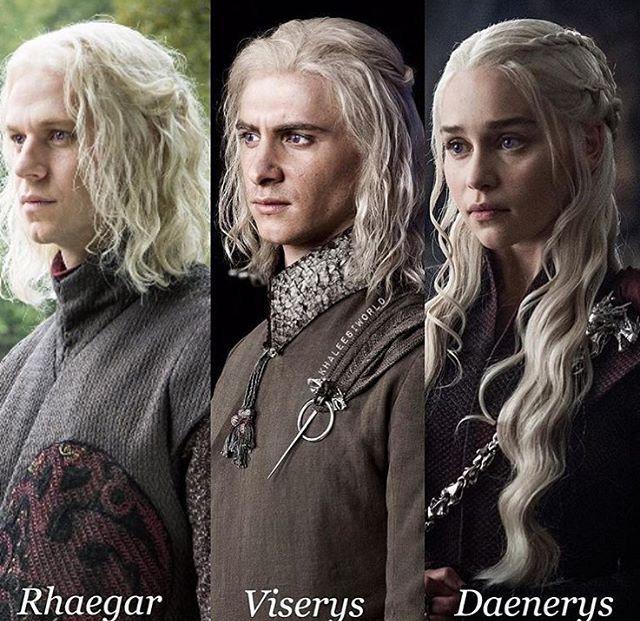 Rhaegar, Viserion and Daenerys Targaryen. Game of Thrones. ASOIAF #gameofthrones