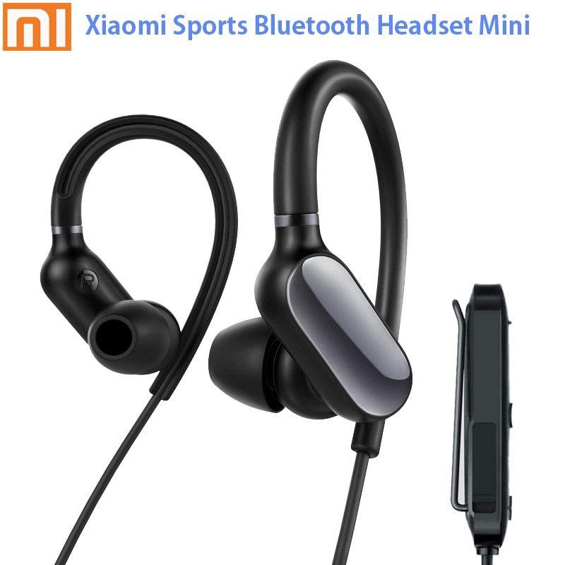 In Stock Original Xiaomi Mi Sports Bluetooth Headset Mini Bluetooth 4 1 Music Sport Earbud Mic Ipx4 Waterproof Wireless Earph Headset Bluetooth Headset Earbuds