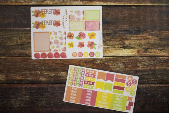 Watercolor Floral Planner Sticker Sampler Erin by BellaRosePaperCo #spring #planneraddict #2016
