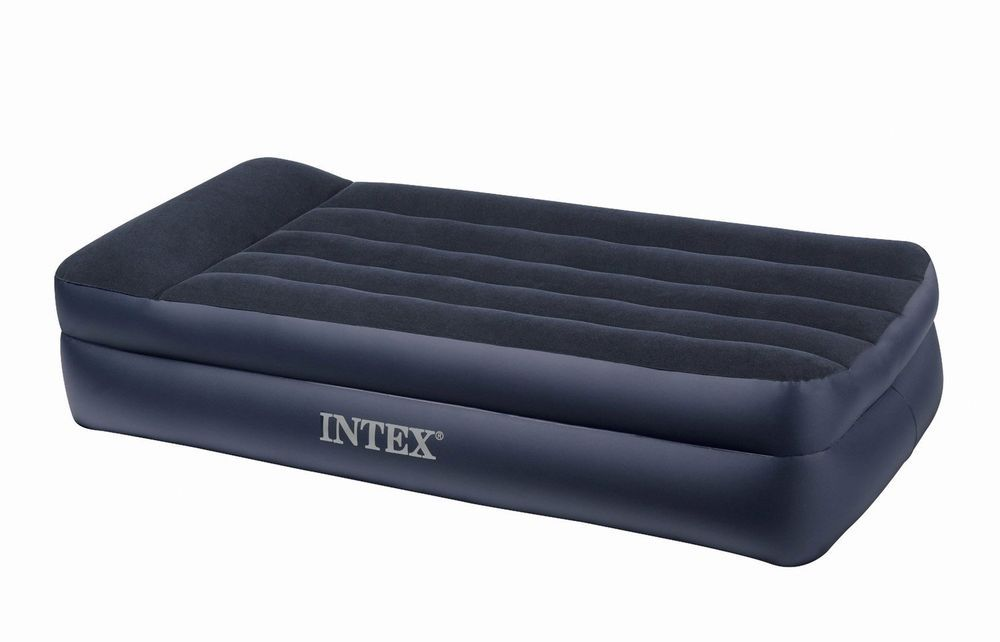 Intex inflatable queen size pull out futon sofa couch bed air mattress in products also rh pinterest