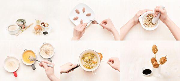 Brochetas de paté fritas con frutos secos   Demos la vuelta al día