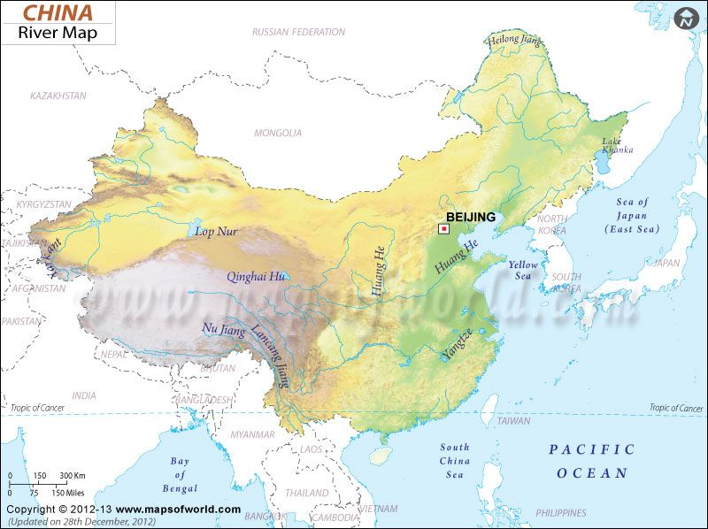 China River Map | At Ease With Chinese | Map, Country maps ...