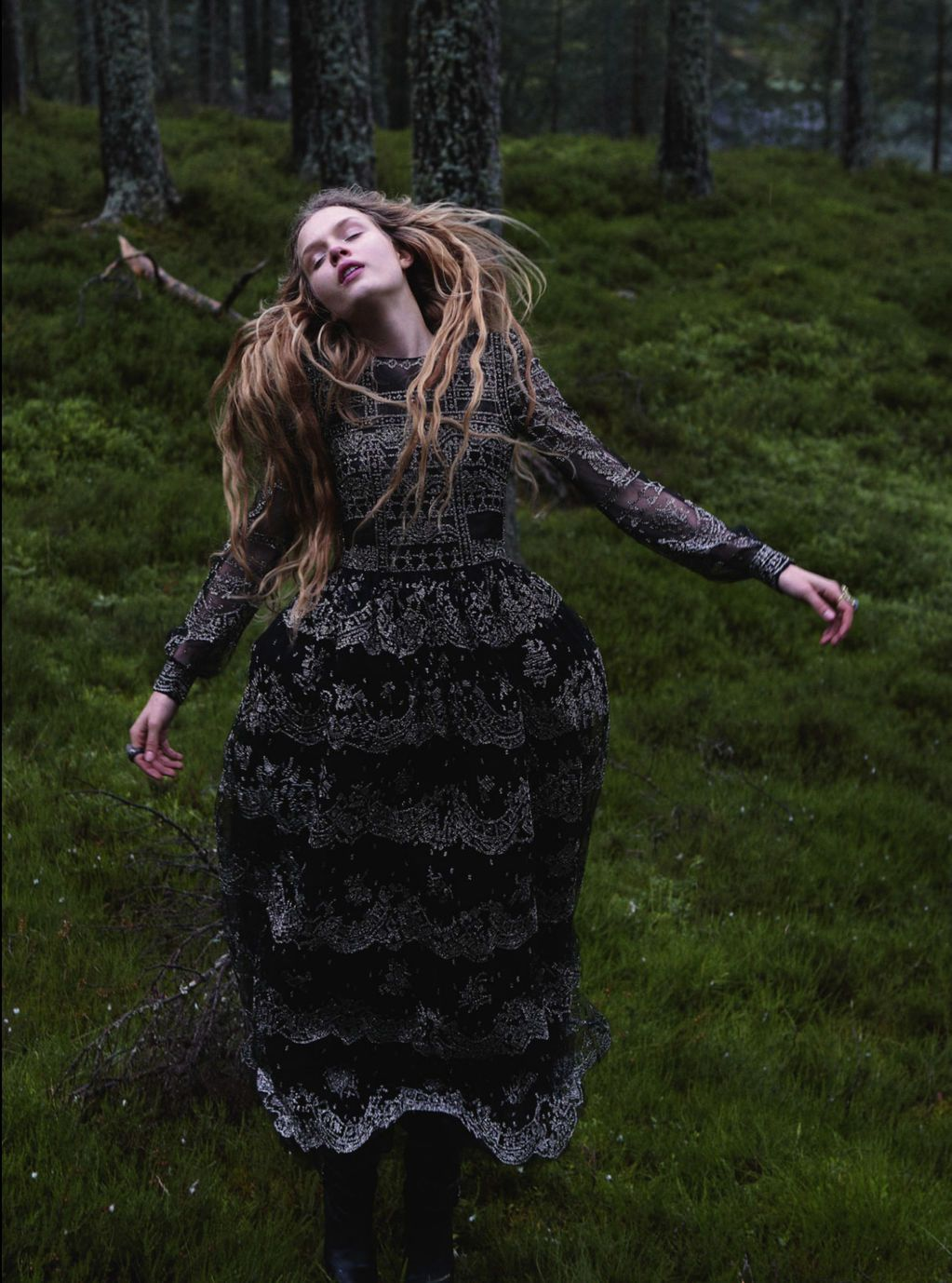 SOME ENCHANTED EVENING UK Harper's Bazaar, December 2012 ph. Yelena Yemchuk model: Josephine Skriver stylist: Cathy Kasterine