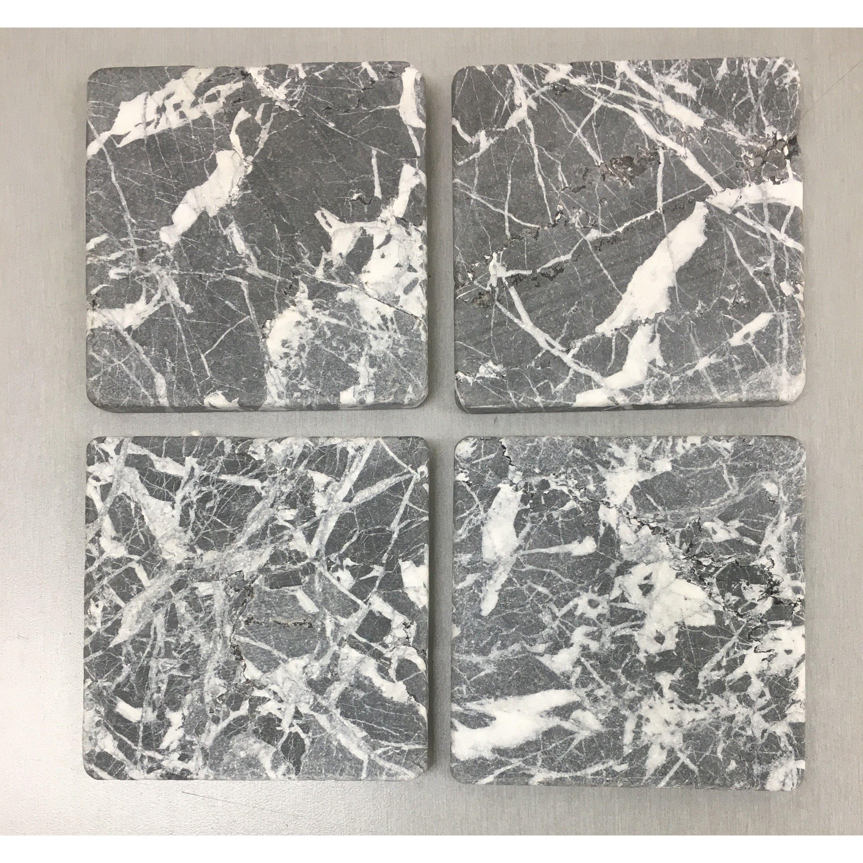 eastern nero tumbled 4x4 marble tile