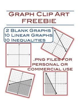Graph Clip Art Freebie 22 Png Files Clip Art Freebies Math Notebooks Math Foldables